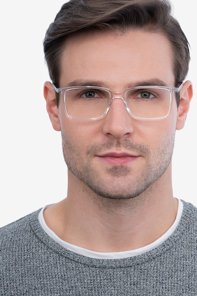 Haptic Clear Acetate-metal Eyeglass Frames for Men from EyeBuyDirect, Front View