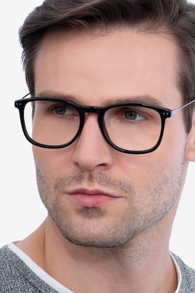 Ratio Black Metal Eyeglass Frames for Men from EyeBuyDirect