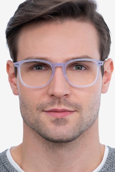 Ratio Purple Striped Metal Eyeglass Frames for Men from EyeBuyDirect