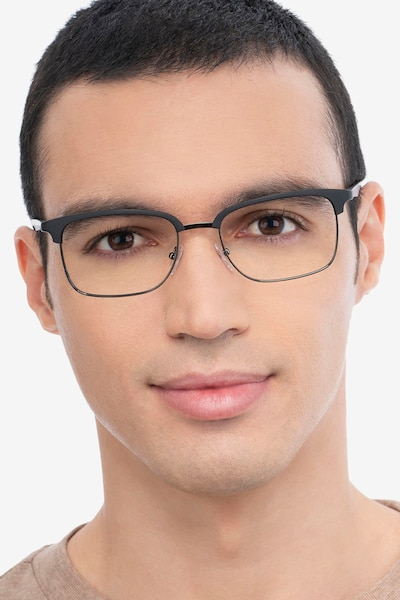 Osten Black Metal Eyeglass Frames for Men from EyeBuyDirect