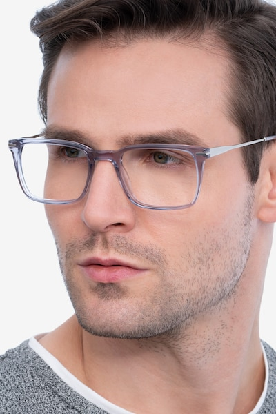 Nox Gray Acetate Eyeglass Frames for Men from EyeBuyDirect