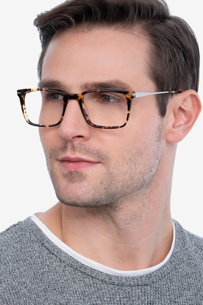 Nox Tortoise Metal Eyeglass Frames for Men from EyeBuyDirect, Front View