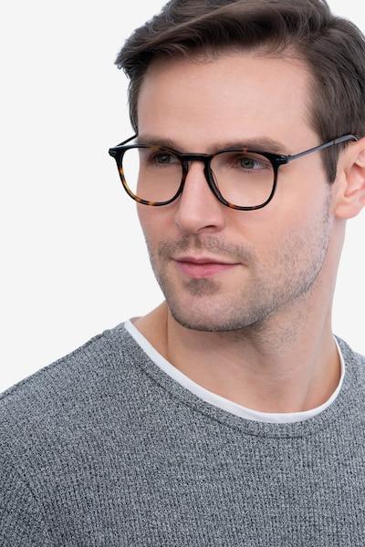 Villeneuve Dark Tortoise Acetate Eyeglass Frames for Men from EyeBuyDirect