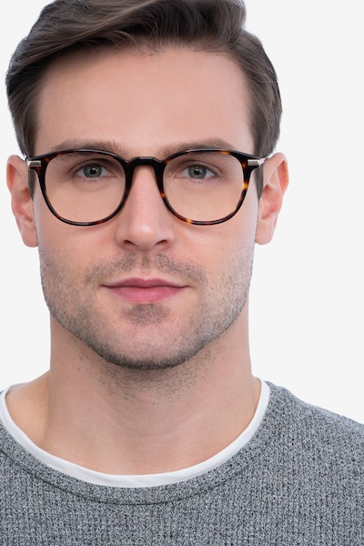 Giverny Tortoise Acetate-metal Eyeglass Frames for Men from EyeBuyDirect, Front View