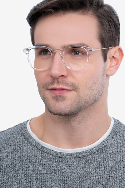 Giverny Clear Acetate Eyeglass Frames for Men from EyeBuyDirect, Front View