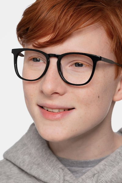 Vibes Black Acetate-metal Eyeglass Frames for Men from EyeBuyDirect