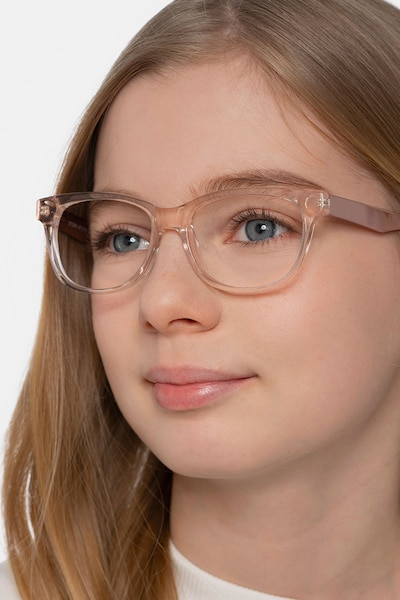 Story Clear Pink Acetate-metal Eyeglass Frames for Women from EyeBuyDirect