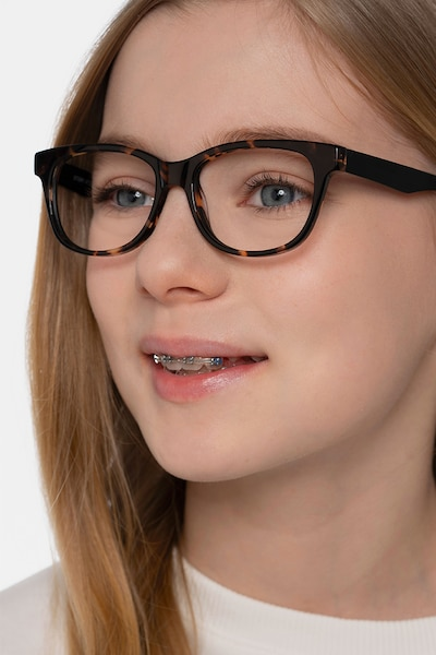 Story Tortoise Acetate Eyeglass Frames for Women from EyeBuyDirect