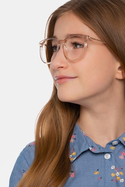 Clever Pink Acetate Eyeglass Frames for Women from EyeBuyDirect, Front View