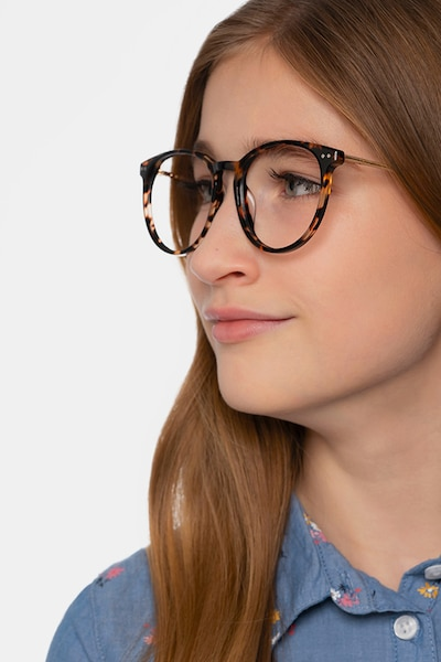 Clever Tortoise Acetate Eyeglass Frames for Women from EyeBuyDirect, Front View