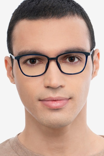 Traverse Navy Acetate-metal Eyeglass Frames for Men from EyeBuyDirect