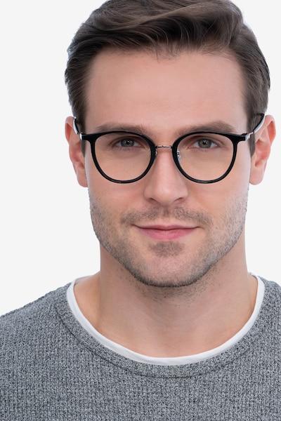 Aloft Black Metal Eyeglass Frames for Men from EyeBuyDirect