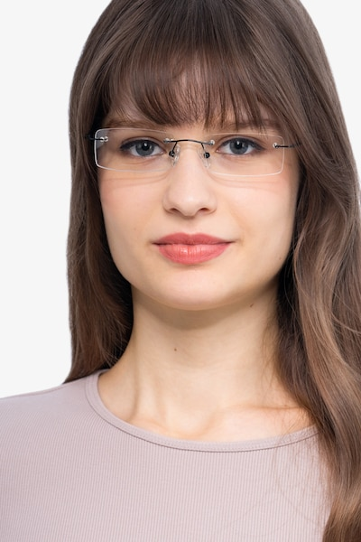 Billings Black Metal Eyeglass Frames for Women from EyeBuyDirect, Front View