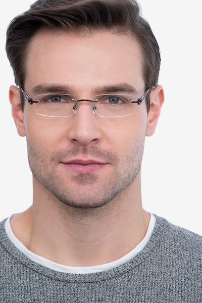 Ottawa Brown Metal Eyeglass Frames for Men from EyeBuyDirect, Front View