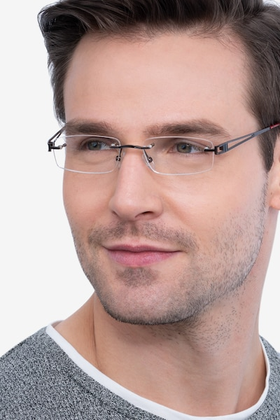 Ottawa Brown Metal Eyeglass Frames for Men from EyeBuyDirect