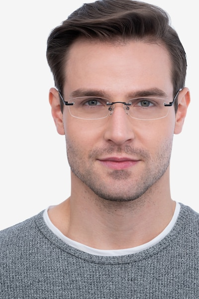Clem Black Metal Eyeglass Frames for Men from EyeBuyDirect