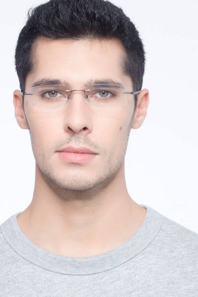 Bentlee Coffee Metal Eyeglass Frames for Men from EyeBuyDirect, Front View