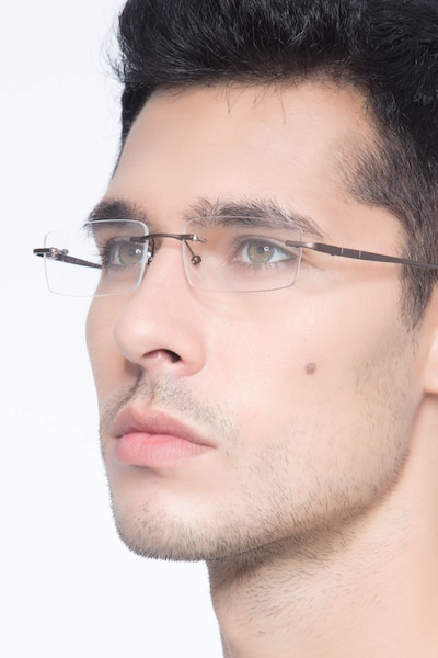 Bentlee Coffee Metal Eyeglass Frames for Men from EyeBuyDirect