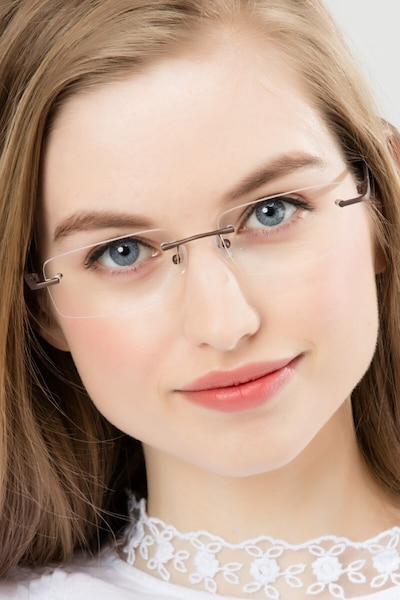 Bentlee Coffee Metal Eyeglass Frames for Women from EyeBuyDirect