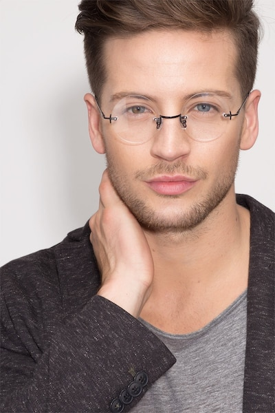 Palo Alto Black Metal Eyeglass Frames for Men from EyeBuyDirect