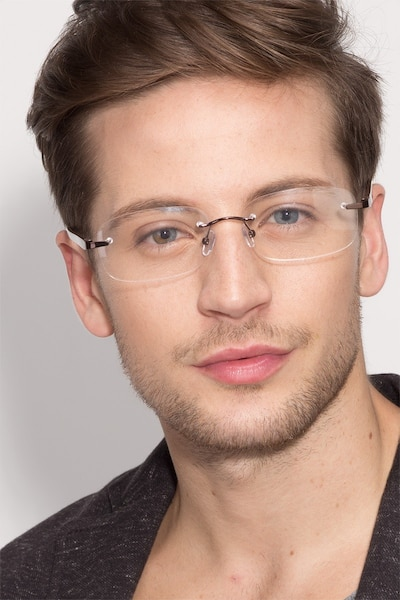 Vernon Brown Acetate-metal Eyeglass Frames for Men from EyeBuyDirect
