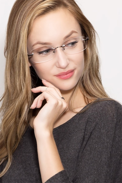 Vernon Brown Acetate-metal Eyeglass Frames for Women from EyeBuyDirect, Front View