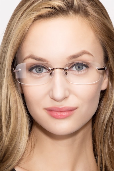 Vernon Brown Acetate-metal Eyeglass Frames for Women from EyeBuyDirect