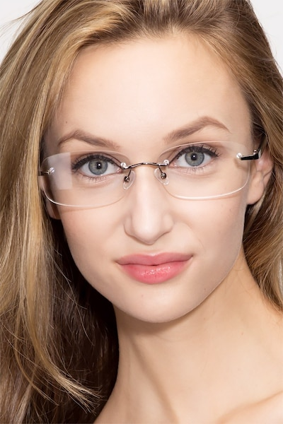 Vernon Gunmetal Acetate Eyeglass Frames for Women from EyeBuyDirect
