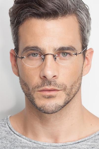 Silver Line Black Metal Eyeglass Frames for Men from EyeBuyDirect