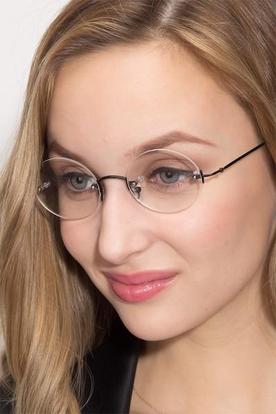Silver Line Black Metal Eyeglass Frames for Women from EyeBuyDirect