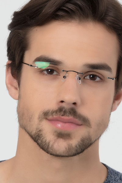 Woodrow Black Metal Eyeglass Frames for Men from EyeBuyDirect