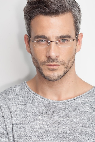 South  Gunmetal  Metal Eyeglass Frames for Men from EyeBuyDirect, Front View