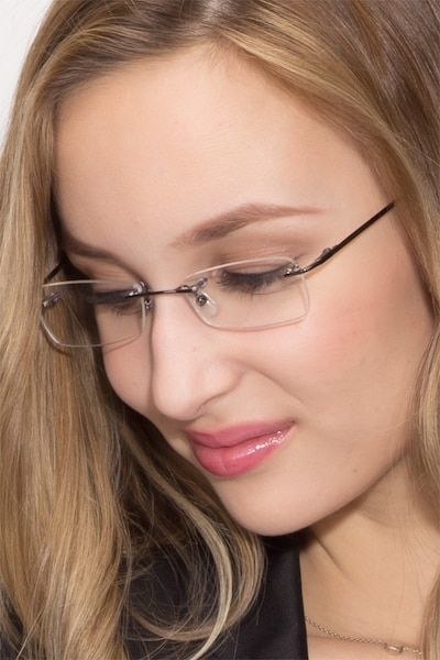 South  Gunmetal  Metal Eyeglass Frames for Women from EyeBuyDirect