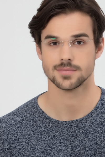 Woodrow  Golden  Metal Eyeglass Frames for Men from EyeBuyDirect