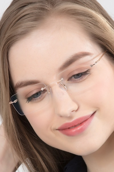 Woodrow  Golden  Metal Eyeglass Frames for Women from EyeBuyDirect