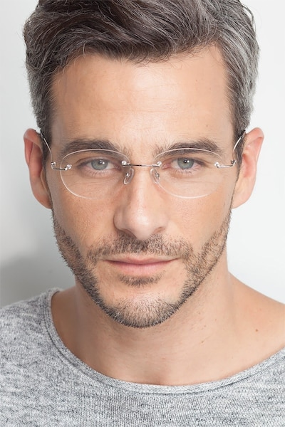 Market Silver Metal Eyeglass Frames for Men from EyeBuyDirect