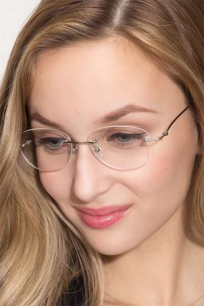 Market Silver Metal Eyeglass Frames for Women from EyeBuyDirect