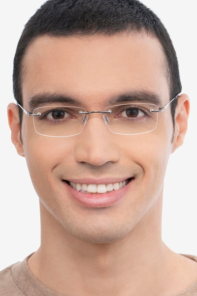 Dimension Gunmetal Titanium Eyeglass Frames for Men from EyeBuyDirect