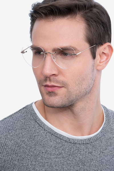 Amore Gold Metal Eyeglass Frames for Men from EyeBuyDirect, Front View