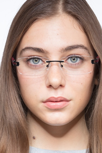 Flow Black Burgundy Acetate Eyeglass Frames for Women from EyeBuyDirect