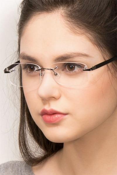 Limitless Gunmetal Metal Eyeglass Frames for Women from EyeBuyDirect