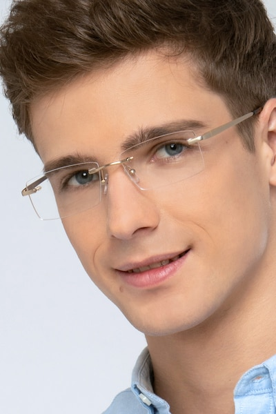 Collector Silver Metal Eyeglass Frames for Men from EyeBuyDirect