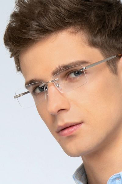 Collector Gunmetal Metal Eyeglass Frames for Men from EyeBuyDirect
