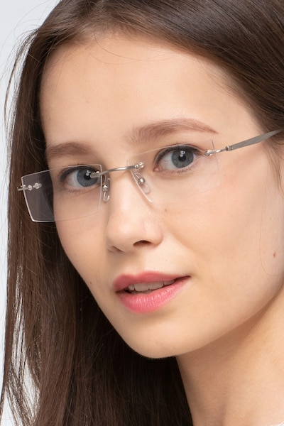 Primo Silver Metal Eyeglass Frames for Women from EyeBuyDirect