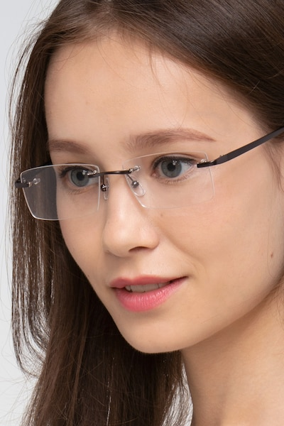 Noble Gunmetal Metal Eyeglass Frames for Women from EyeBuyDirect