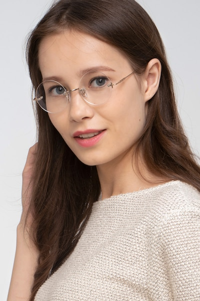 Palo Alto Golden Metal Eyeglass Frames for Women from EyeBuyDirect, Front View