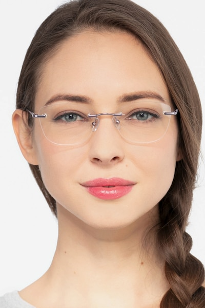 Woodrow Blue Metal Eyeglass Frames for Women from EyeBuyDirect