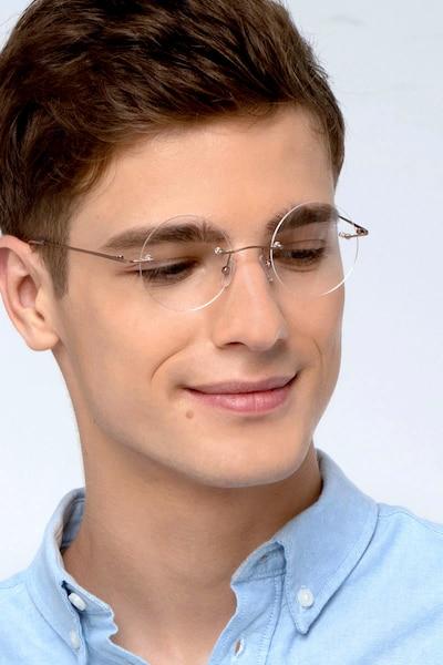 Altus Or Métal Montures de Lunettes pour Hommes d'EyeBuyDirect, Vue de Face