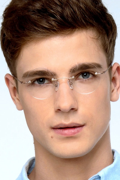 Altus Rose Gold Metal Eyeglass Frames for Men from EyeBuyDirect