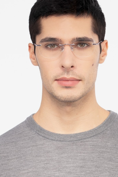 Vince Light Purple Metal Eyeglass Frames for Men from EyeBuyDirect, Front View